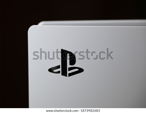 Liverpool, United Kingdom - December 12th 2020: Playstation 5 Console Close Up