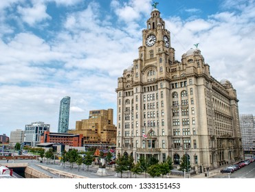 Liverpool waterfront  Liverpool United Kingdom 19/20/2016 Liverpool Waterfront in Hdr
