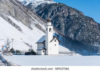 LIVIGNO – 21 JANUARY 2017: Chiesa dell'Immacolata di Viera in Livigno, Italy
