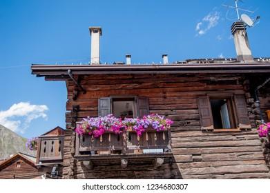 Livigno flowered balcony ornamental balconies