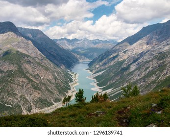 Livigno, Italy - July 22, 2017: Lake of Livigno