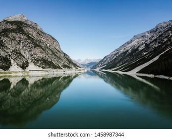 Livigno Lake on a Sunny Day