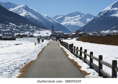 Livigno, Lombardy, Italy. Wintry view.