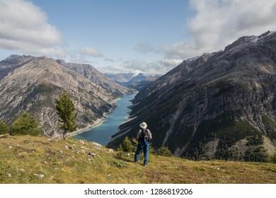 Livigno mountain Alps lake, col de la croix