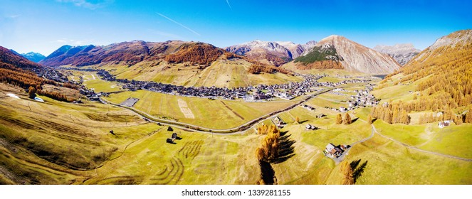 Livigno - Valtellina (IT) - Panoramic aerial view