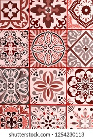 LIVING CORAL 2019. mexican talavera background. Living coral. Color of the year 2019