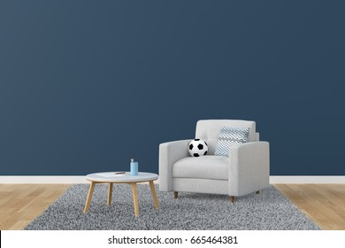 Living Room 3D Rendering Image
