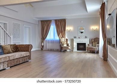 living room with a beautiful interior