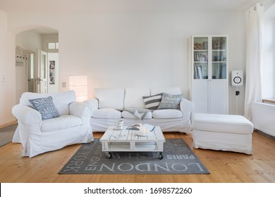 Living room in bright, white ambient.