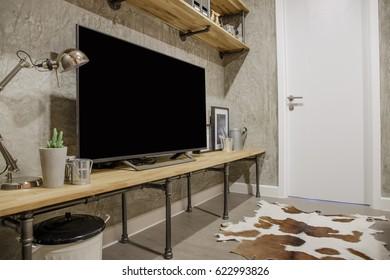 Living room Condo Loft style.