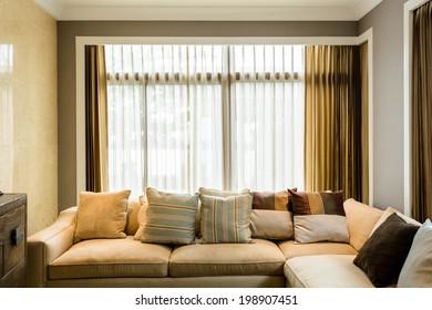 Living room in a condominium