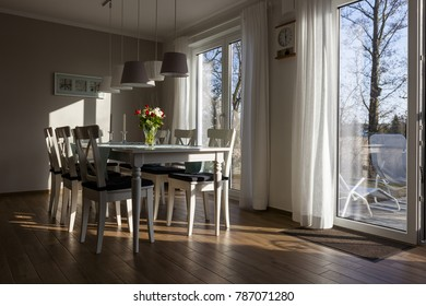Living room of a holiday home on the Baltic Sea