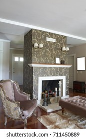 living room interior design classic furniture, home and table