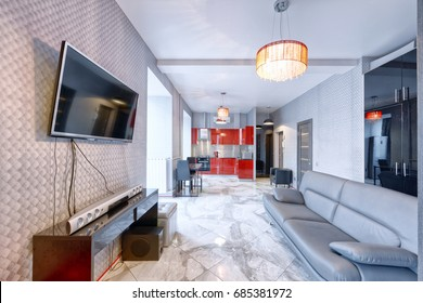Living room interior in modern house