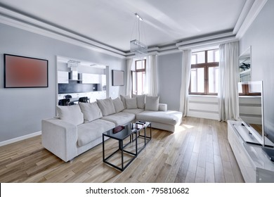 Living room interior in modern house.