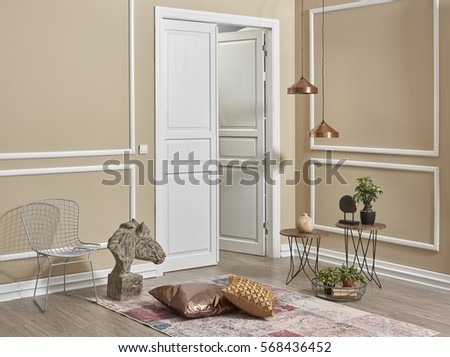 Living Room Interior Style Behind White Stock Photo (Edit Now ...