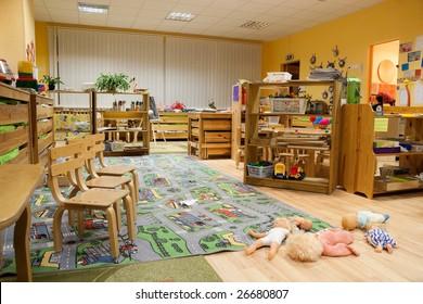 Living room in kindergarten