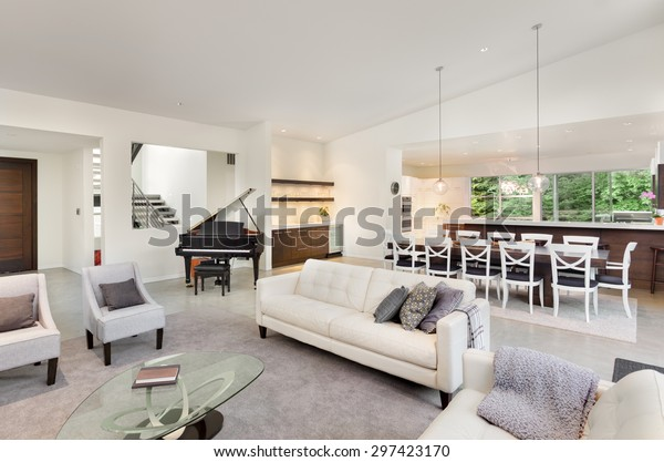 Living Room Luxury Home Wide Open Stock Photo Edit Now 297423170