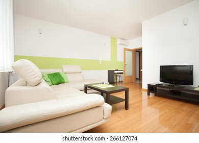 living room in an modern apartment