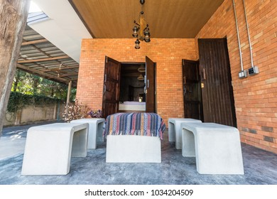 Living room in outdoor syle