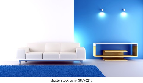 Living Room Setting - couch to face a blank wall