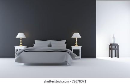 Living Room Setting - simple bedroom scene