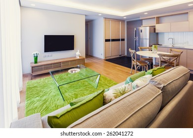living room with tv interior