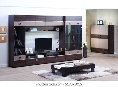 Living room with TV stand