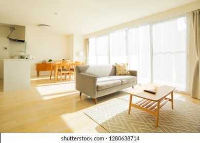 Living room with various furniture