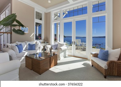 Living Room water front view