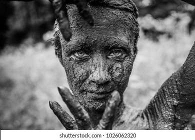 A living statue.