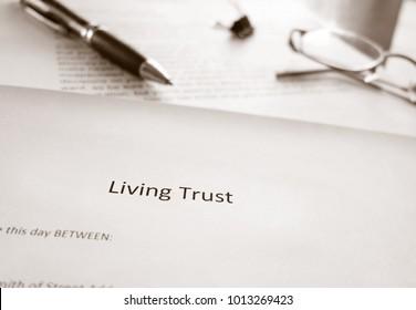 A Living Trust estate planning document