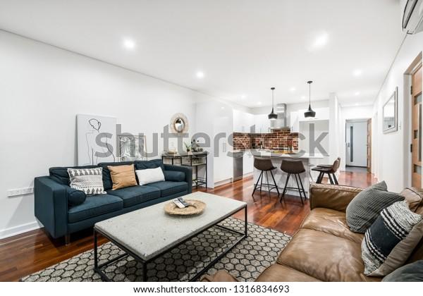 Livingdining Room Interior Modern Australian Home Stock Photo Edit Now 1316834693