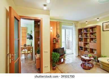 living-room and Kitchen interior view from Passage