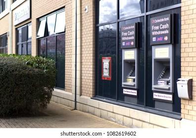 LIVINGSTON, SCOTLAND, UK - APRIL 19, 2018. Clydesdale Bank ATM.