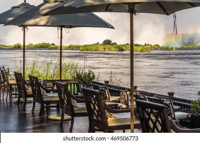 Livingstone Zambia 30 March 2016 The Royal Livingstone Hotel is  a beautiful and elegant resort and located a short walk from the Victoria Falls