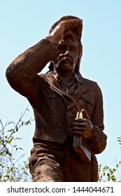 Livingstone, Zambia, Africa. July 2014. A statue of David Livingstone near Victoria Falls at Livingstone, Zambia.
