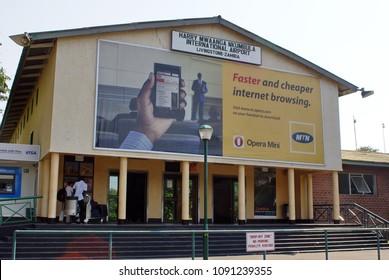 LIVINGSTONE, ZAMBIA - CIRCA OCTOBER 2012: International airport