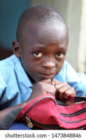 LIVINGSTONE - ZAMBIA - JANUARY 8, 2011: Unidentified student in a primary school in Livingstone