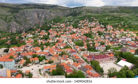 Livno old town photgraphy from drone Bosnia and Herzegovina