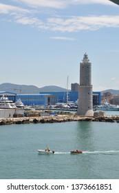 Livorno, Italy - April 21 , 2018: livorno italy  The busy port of Port of Livorno