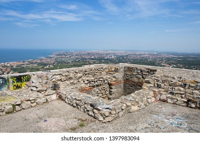 Livorno, Italy - August 2018: View of the City of Livorno above the Mausoleum of Ciano.
