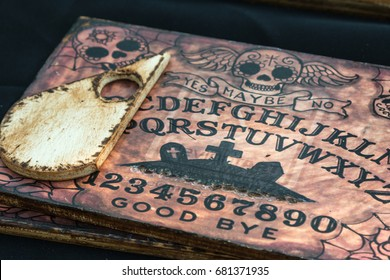 Livorno, Italy - july 2015: Wooden Board Ouija: Communication with Spirits