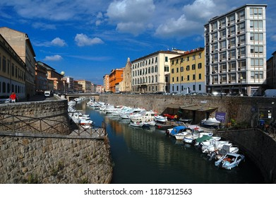 Livorno/Tuscany/Italy - 12 October 2016:  Livorno is an Italian port city on the west coast of Tuscany.