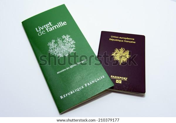 Livret De Famille France Marriage Certificate Stock Photo