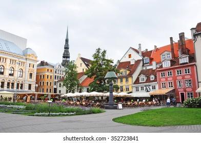 Livu Laukums square, Old Riga, Latvia. (22.08.2010)