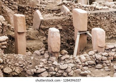 Lizard stone in GobekliTepe. Ancient Site of Gobekli Tepe in SanliUrfa, Turkey (Göbeklitepe The Oldest Temple of the World). Gobekli Tepe is a UNESCO World Heritage site.)