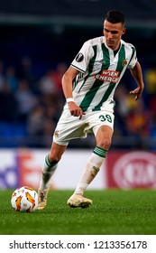 Ljubicic of Rap Wien controls the ball during the Group G match of the UEFA Europa League between Villarreal CF and Rapid Wien at La Ceramica Stadium Villarreal, Spain on October 25, 2018.