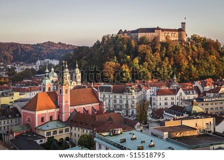Ljubljana castle Slovenia as