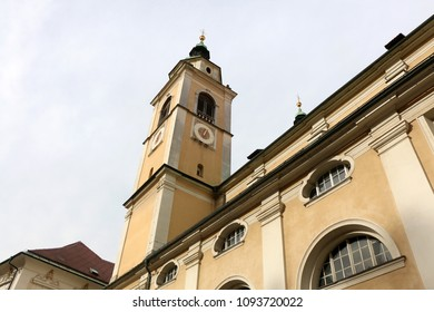 Ljubljana Cathedral, officially named St. Nicholas's Church at Cyril and Methodius Square in Ljubljana, Slovenia.